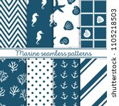 Marine Seamless Patterns Set....