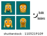 assembly of flat icons on theme ... | Shutterstock .eps vector #1105219109