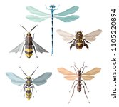 insect icons  vector set.... | Shutterstock .eps vector #1105220894