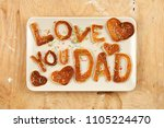 special father's day breakfast. ... | Shutterstock . vector #1105224470
