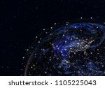 global network concept   this... | Shutterstock . vector #1105225043
