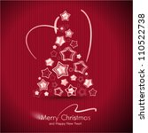 Red Merry Christmas Card With...