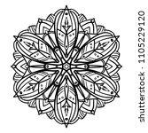 mandala design. vintage... | Shutterstock .eps vector #1105229120