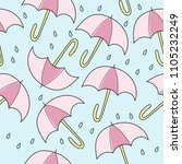 abstract handmade umbrella and... | Shutterstock .eps vector #1105232249