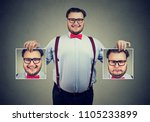 young cheerful man in glasses... | Shutterstock . vector #1105233899