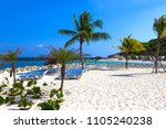 The White Sand At Sunny Day On...