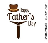 happy father day | Shutterstock .eps vector #1105240934
