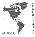 political america map vector... | Shutterstock .eps vector #1105241858