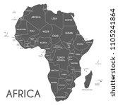 political africa map vector... | Shutterstock .eps vector #1105241864