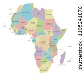 political africa map vector... | Shutterstock .eps vector #1105241876