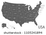 usa map vector illustration... | Shutterstock .eps vector #1105241894