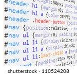 css  code background | Shutterstock .eps vector #110524208