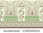 traditional indian paisley... | Shutterstock . vector #1105244510