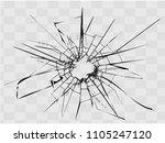 broken glass  cracks on glass   ... | Shutterstock .eps vector #1105247120