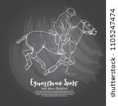 illustration of polo horse.... | Shutterstock .eps vector #1105247474