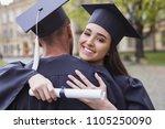 graduate in mortarboard....   Shutterstock . vector #1105250090