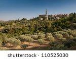 village of banne in ardeche in...   Shutterstock . vector #110525030