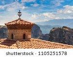 monasteries on the top of rock... | Shutterstock . vector #1105251578