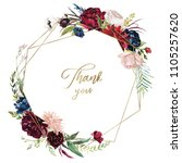 watercolor floral illustration  ... | Shutterstock . vector #1105257620