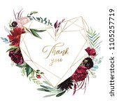 watercolor floral illustration  ... | Shutterstock . vector #1105257719