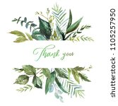 watercolor floral illustration  ... | Shutterstock . vector #1105257950