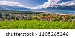 panorama view of montreux city... | Shutterstock . vector #1105265246