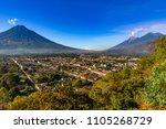 guatemala. antigua. panoramic...   Shutterstock . vector #1105268729