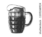 vector engraved style... | Shutterstock .eps vector #1105268924