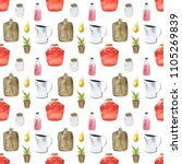 seamless pattern with cutting... | Shutterstock . vector #1105269839
