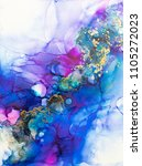 alcohol ink art. abstract... | Shutterstock . vector #1105272023