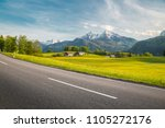 panoramic view of empty country ... | Shutterstock . vector #1105272176