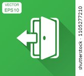 entrance door in flat style....   Shutterstock .eps vector #1105277210
