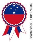samoa award ribbon vector in... | Shutterstock .eps vector #1105278083
