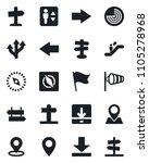 set of vector isolated black... | Shutterstock .eps vector #1105278968