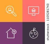 modern  simple vector icon set...   Shutterstock .eps vector #1105281743