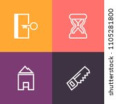 modern  simple vector icon set... | Shutterstock .eps vector #1105281800