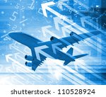 image of a plane against... | Shutterstock . vector #110528924