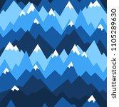 blue mountains seamless pattern.... | Shutterstock .eps vector #1105289630