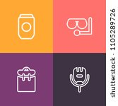 modern  simple vector icon set... | Shutterstock .eps vector #1105289726
