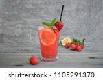 Fresh Pink Lemonade With Lemon...