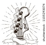 hand draw sketch with bass... | Shutterstock . vector #1105293074