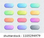 vector 3d shape colorful text... | Shutterstock .eps vector #1105294979