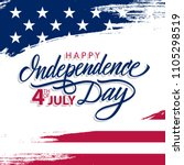 4th of july greeting card with... | Shutterstock .eps vector #1105298519