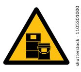 chemical storage area symbol ... | Shutterstock .eps vector #1105301000