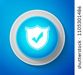 white shield with check mark... | Shutterstock .eps vector #1105301486