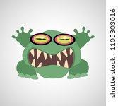 cartoon monster on white...   Shutterstock .eps vector #1105303016