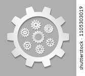 set of gears with shadow   Shutterstock .eps vector #1105303019
