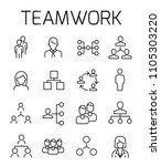 teamwork related vector icon... | Shutterstock .eps vector #1105303220