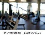 fitness room. interior detail.... | Shutterstock . vector #1105304129