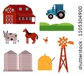 rural design elements set....   Shutterstock .eps vector #1105304900